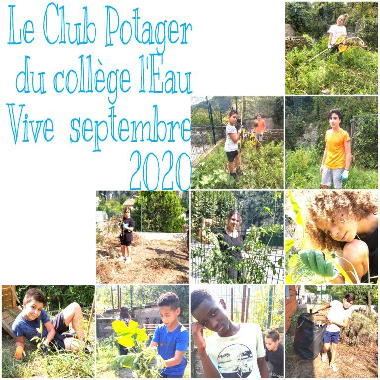 Club potager - Collège Eau vive